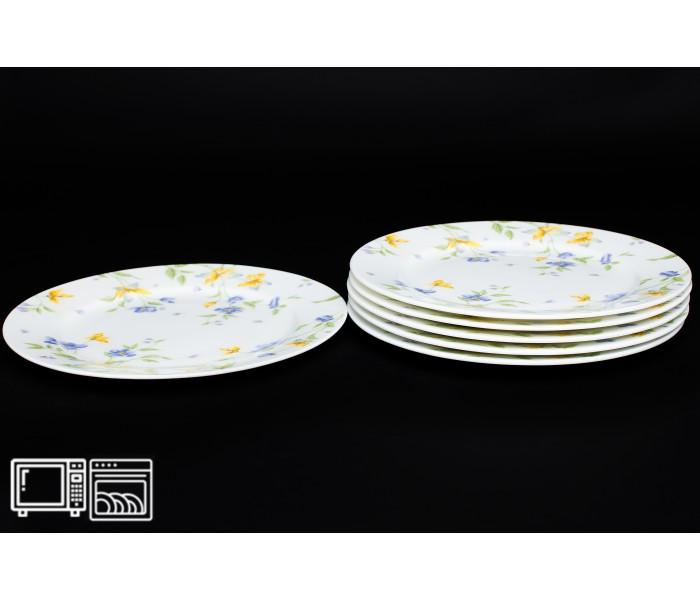Набор тарелок 6 шт. 20 см Сиреневый цветок, Rulanda