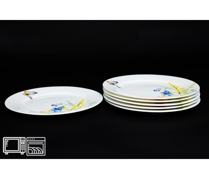 Набор тарелок 6 шт. 25 см Дейзи Бабочки, Rulanda
