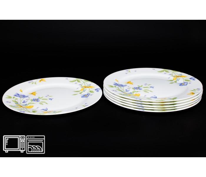 Набор тарелок 6 шт. 25 см Сиреневый цветок, Rulanda