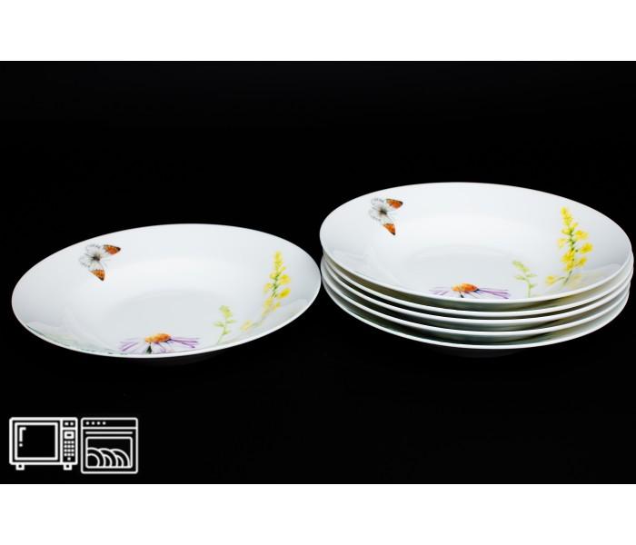 Набор тарелок 6 шт. 23см (суп) Дейзи Бабочки, Rulanda