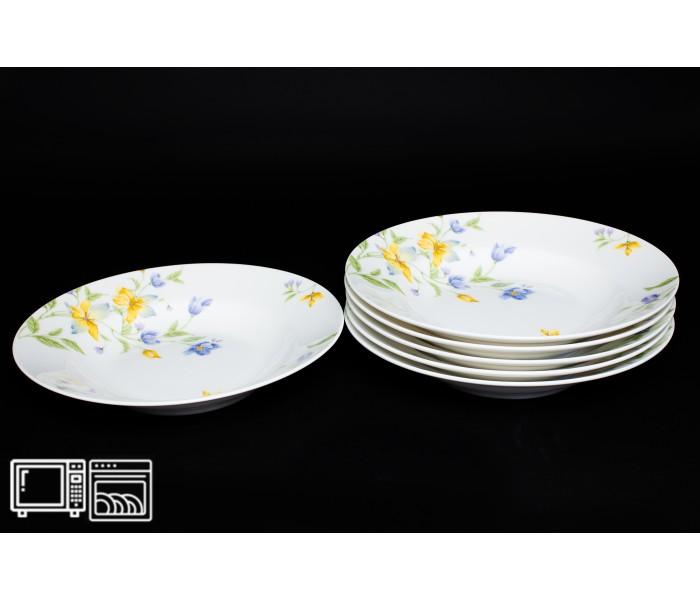Набор тарелок 6 шт. 23см (суп) Сиреневый цветок