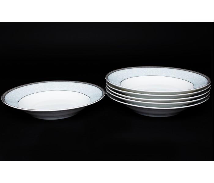 Набор тарелок 6 шт. 23см (суп) Узор, Rulanda