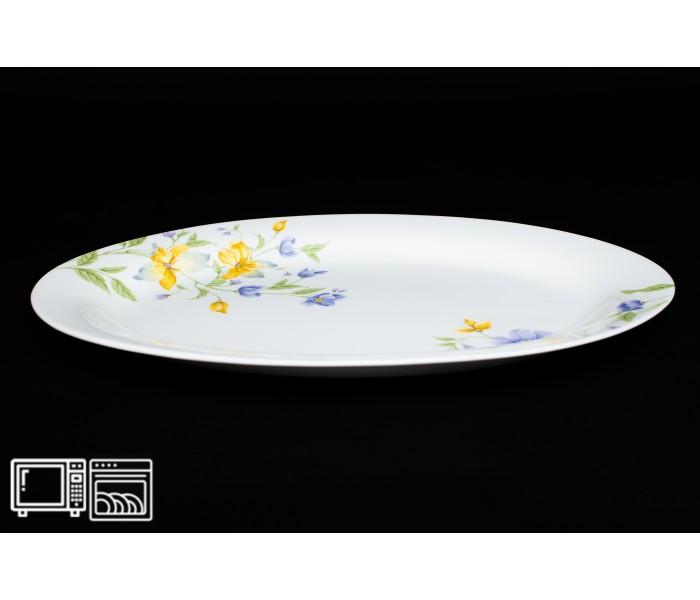 Овальное блюдо 30 см Сиреневый цветок, Rulanda