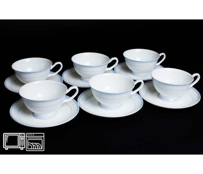 Набор чайных пар 6 шт. 200мл Утренний, Rulanda